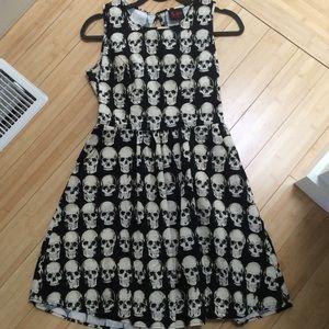 Rare skull print dress ModCloth Medium